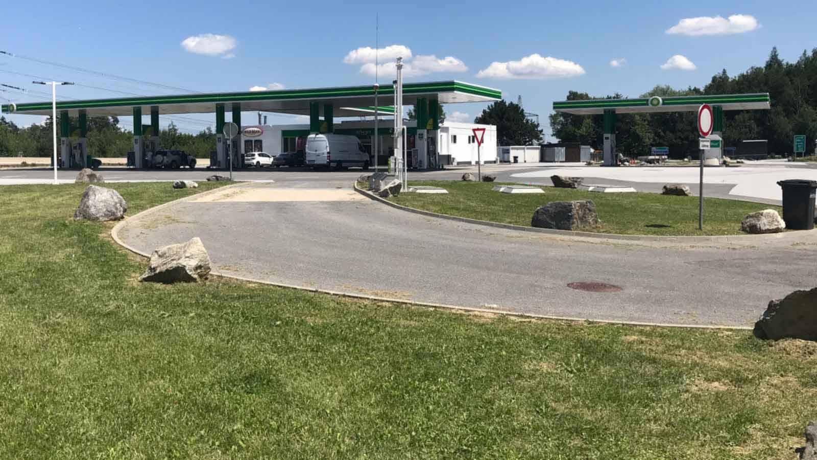Tankstelle Tschechien Grenze